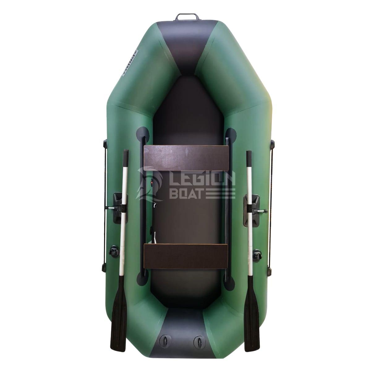 Лодка ПВХ Прима Вираж 260 зелено-черная