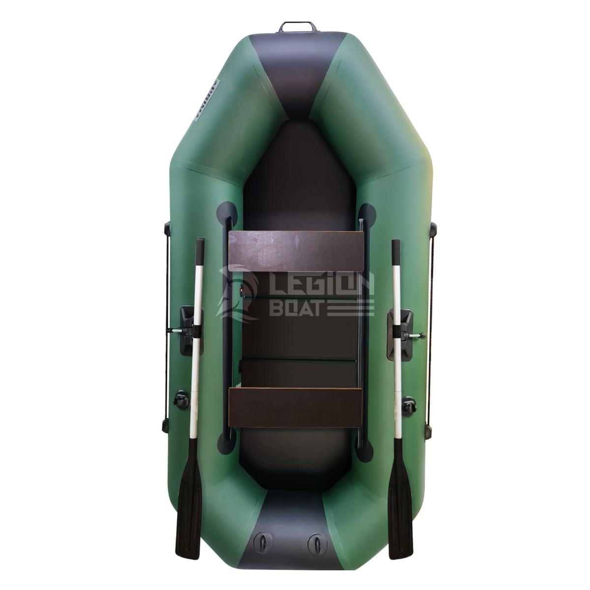 Лодка ПВХ Прима Вираж 240 ЖС зелено-черная